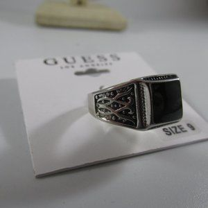 925 Sterling Silver Black Onyx ring Size 9